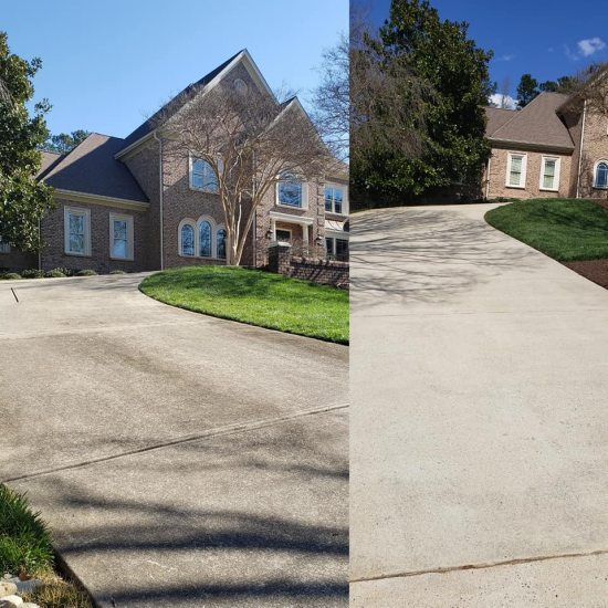 Concrete surface cleaning
